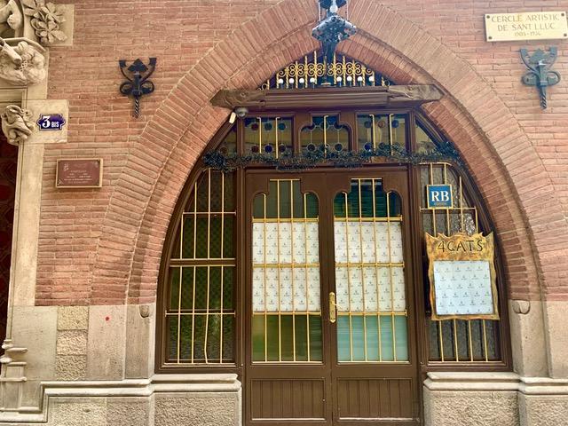 "Каса Марти, ресторан ""4 Кота"" в Барселоне."